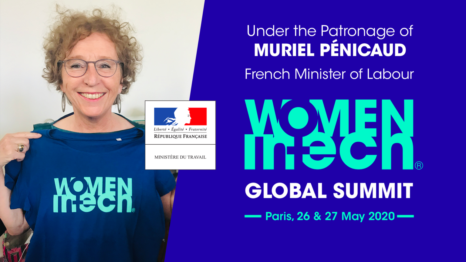 Marrainage by French Minister of Labour,Muriel Penicaud