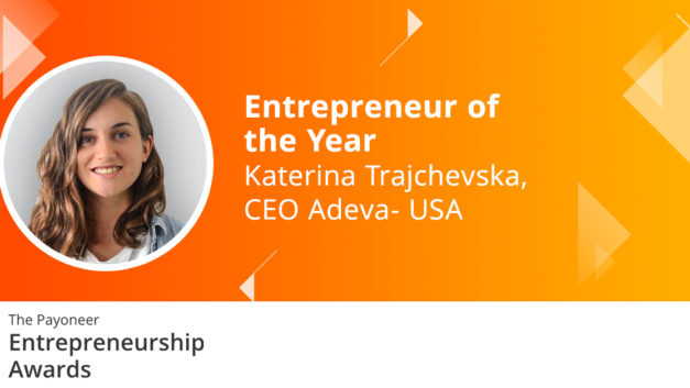 "Katerina Trajchevska Named ""Entrepreneur of the Year"" at the Prestigious Payoneer 2020 Entrepreneurship Awards"