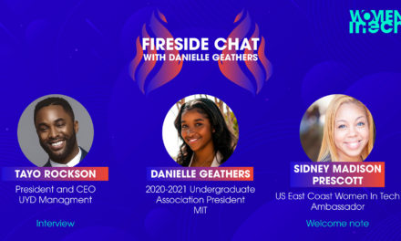 Exclusive live interview with Danielle Geathers, Massachusetts Institute of Technology
