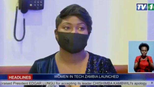 TV 1 coverage of The Women in Tech Zambia launch